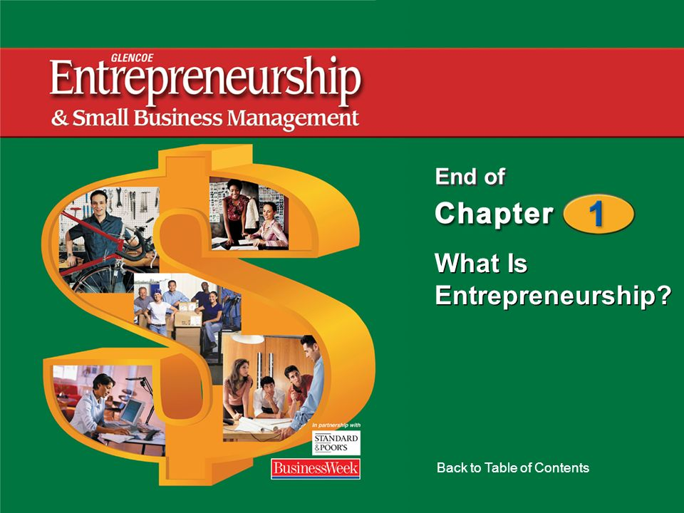 What Is Entrepreneurship? Back to Table of Contents End of
