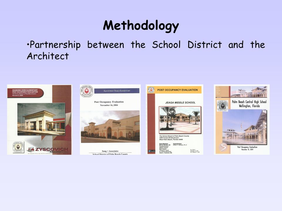 Methodology Partnership between the School District and the Architect