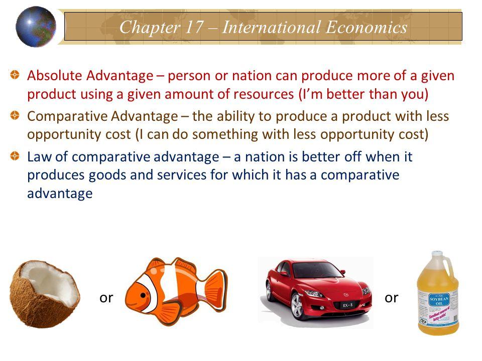 Chapter 17 – International Economics
