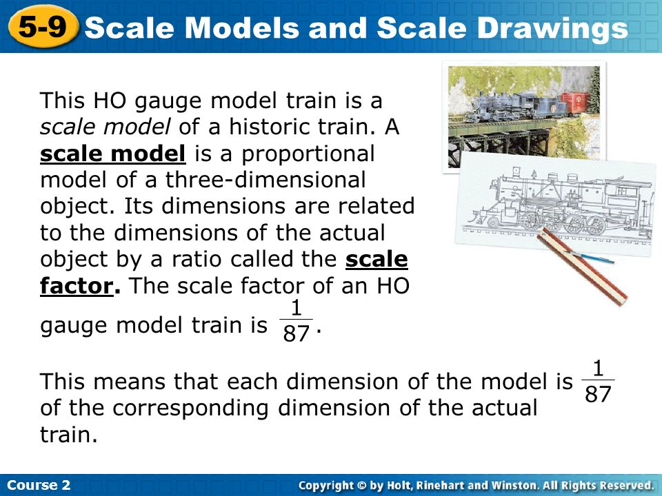 1.What is the scale of a drawing in which a 9 ft wall is 6 cm long.