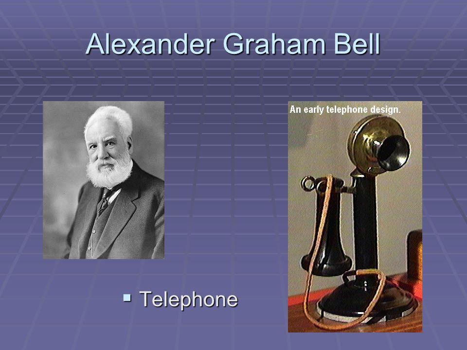Alexander Graham Bell Telephone Telephone