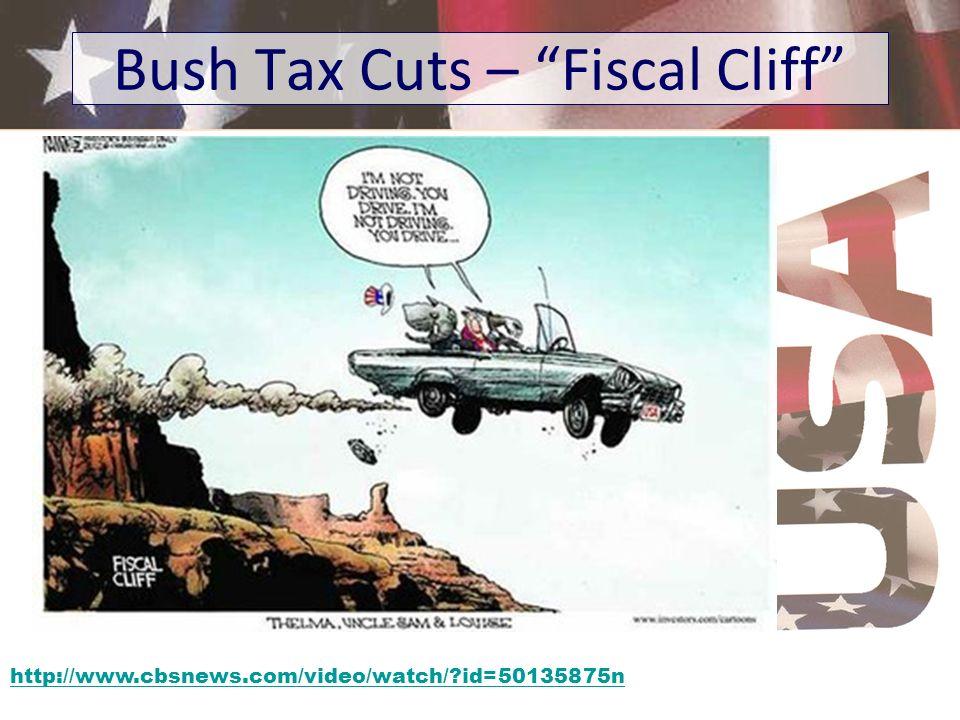 http://www.cbsnews.com/video/watch/?id=50135875n Bush Tax Cuts – Fiscal Cliff