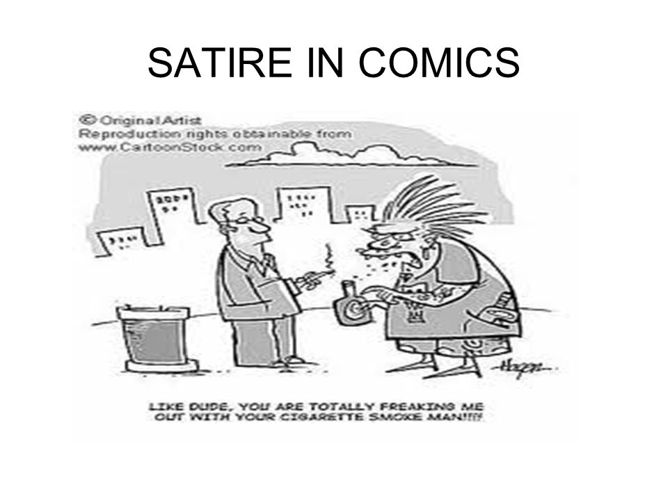 SATIRE IN COMICS