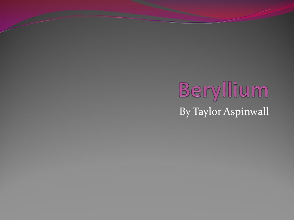 Chemical Properties Beryllium reacts with acids.Beryllium also reacts with different halogens.