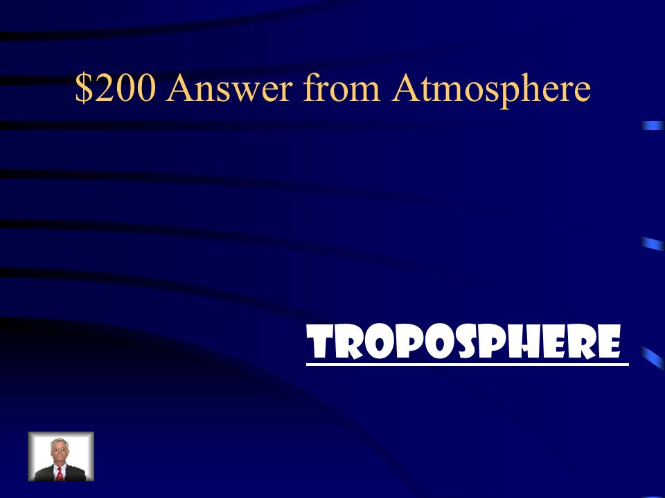 $200 Question from Atmosphere What layer produces weather?