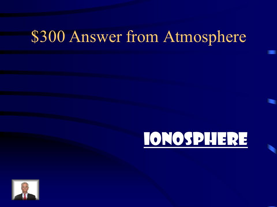 $300 Question from Atmosphere Where does the radio waves travel in?