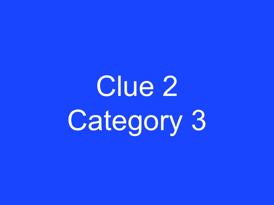 Answer 1 Category 3