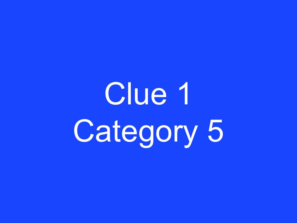 Answer 5 Category 4