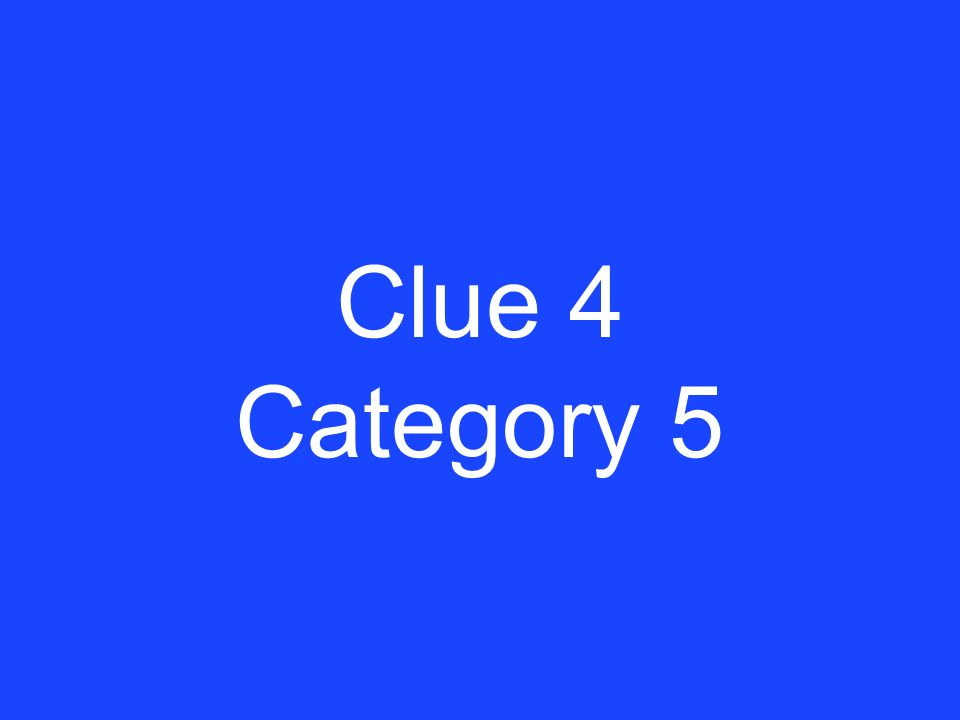 Answer 3 Category 5