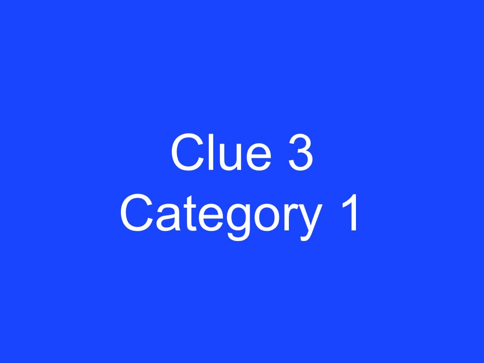 Answer 2 Category 1