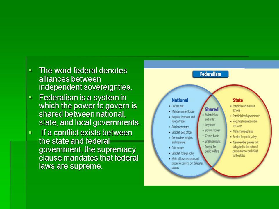 The U.S.federal system has five basic characteristics: The U.S.