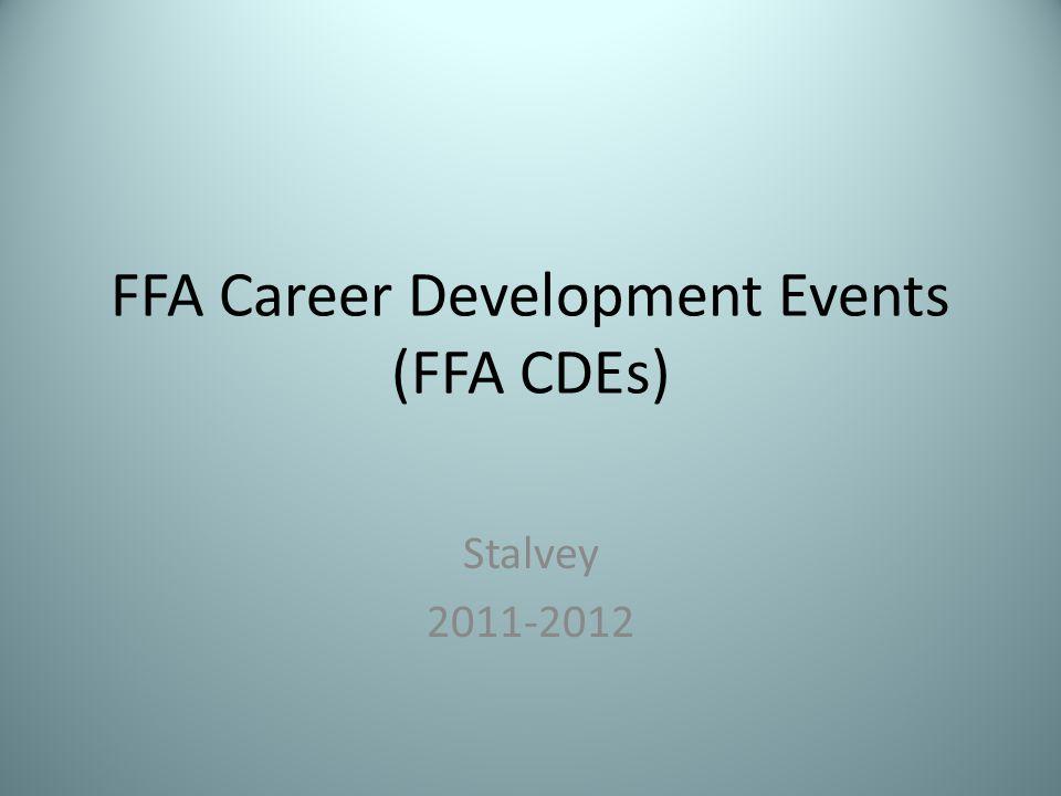 FFA Career Development Events (FFA CDEs) Stalvey 2011-2012