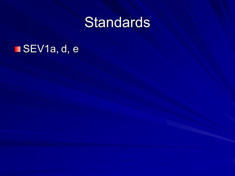 Standards SEV1a, d, e