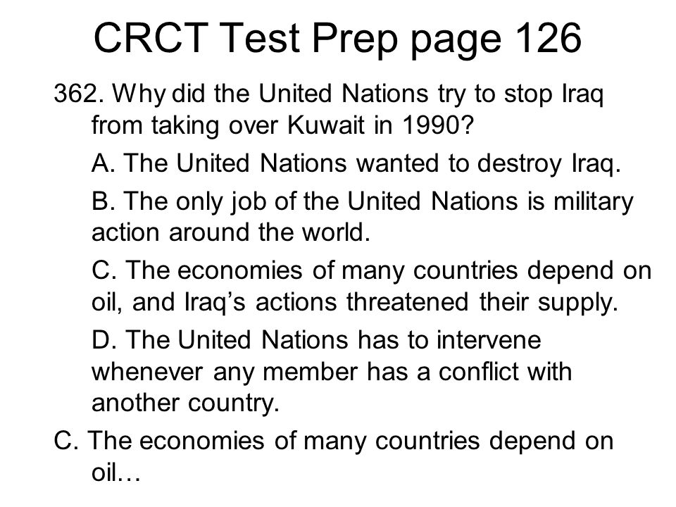 CRCT Test Prep page 126 362.