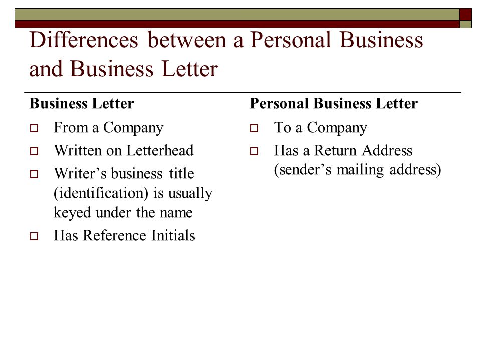 Business Letter Vs Memo Differences between a Personal Business and Business Letter Business Letter From a Company Written on Letterhead