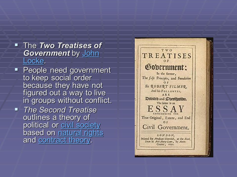 The Two Treatises of Government by John Locke.