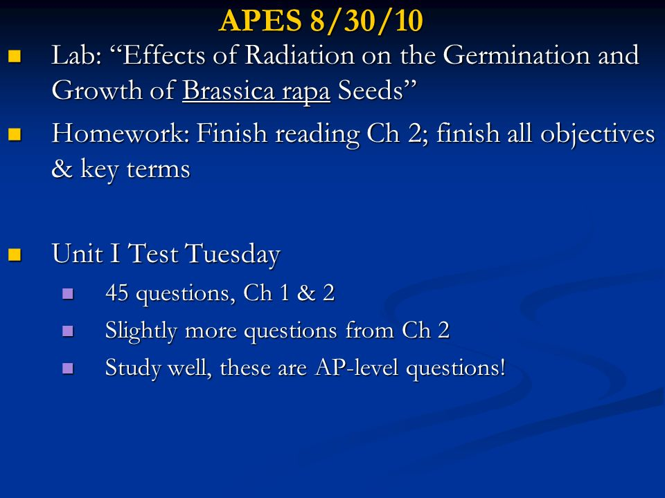 APES 9/20/10 Lecture- Ch 6 Human Population Lecture- Ch 6 Human Population Classwork- Exploring the World Population Data Sheet Classwork- Exploring the World Population Data Sheet Note- Unit 2 Test is Wednesday 9/22 (Ch 3-6) Note- Unit 2 Test is Wednesday 9/22 (Ch 3-6) HW read CH 6 p.