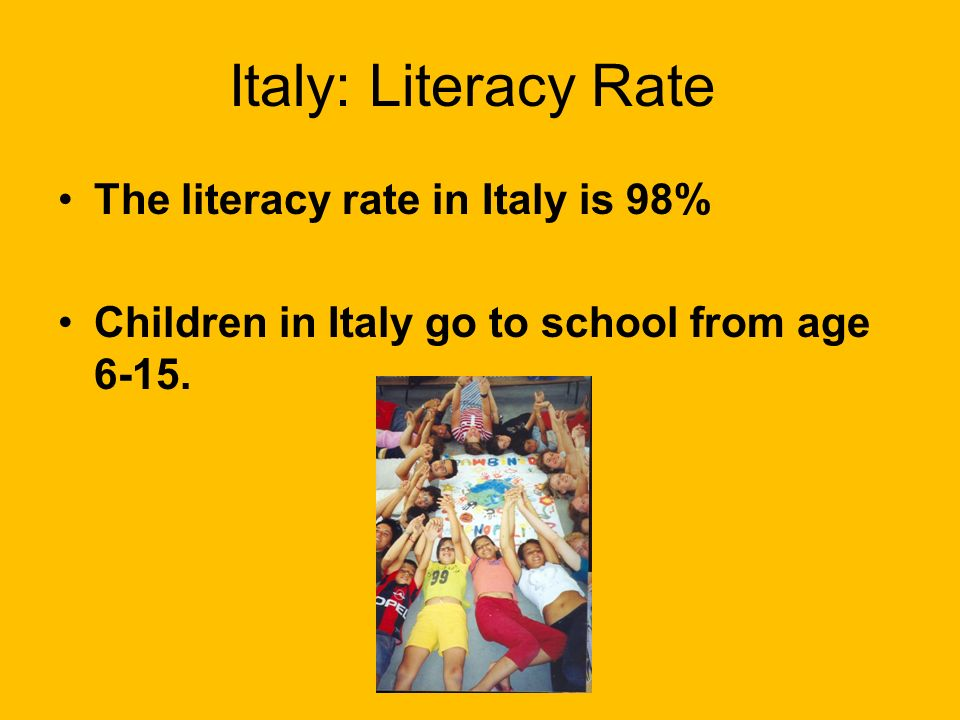 Italy: Language -Italian is the official language of Italy -Italian is one of the Romance languages. Follow the link to hear some phrases in Italian h