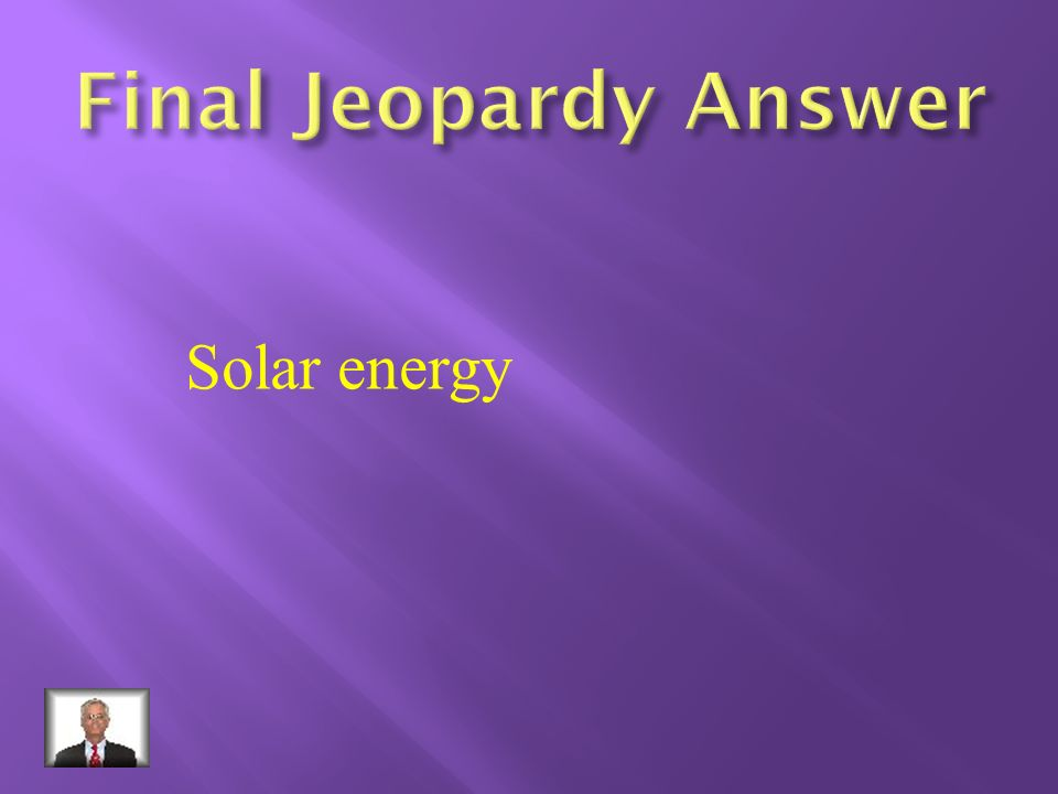 What is the most used alternate energy source?