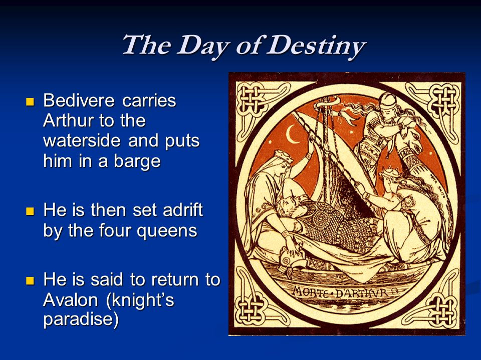 The Day of Destiny The Lady of the Lake catches the sword and brandished it thrice The Lady of the Lake catches the sword and brandished it thrice