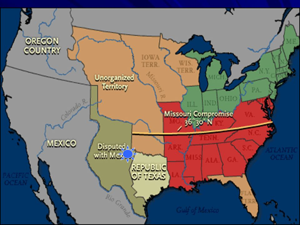 In 1819, the Union (United States) was evenly divided between slave states and free states. That year, Missouri asked to join the Union as a slave sta