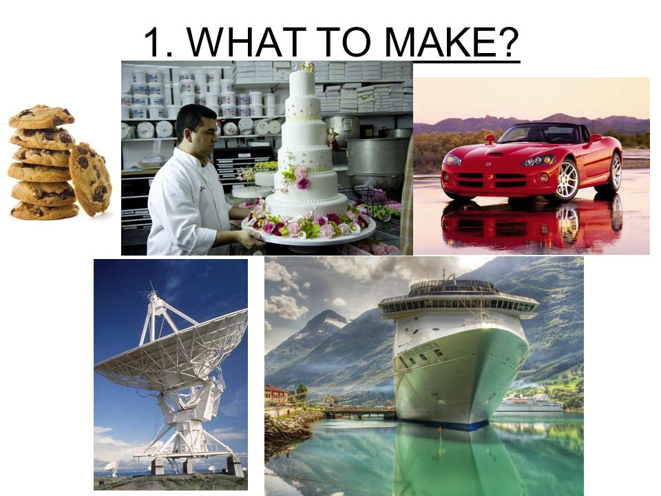 1. WHAT TO MAKE?