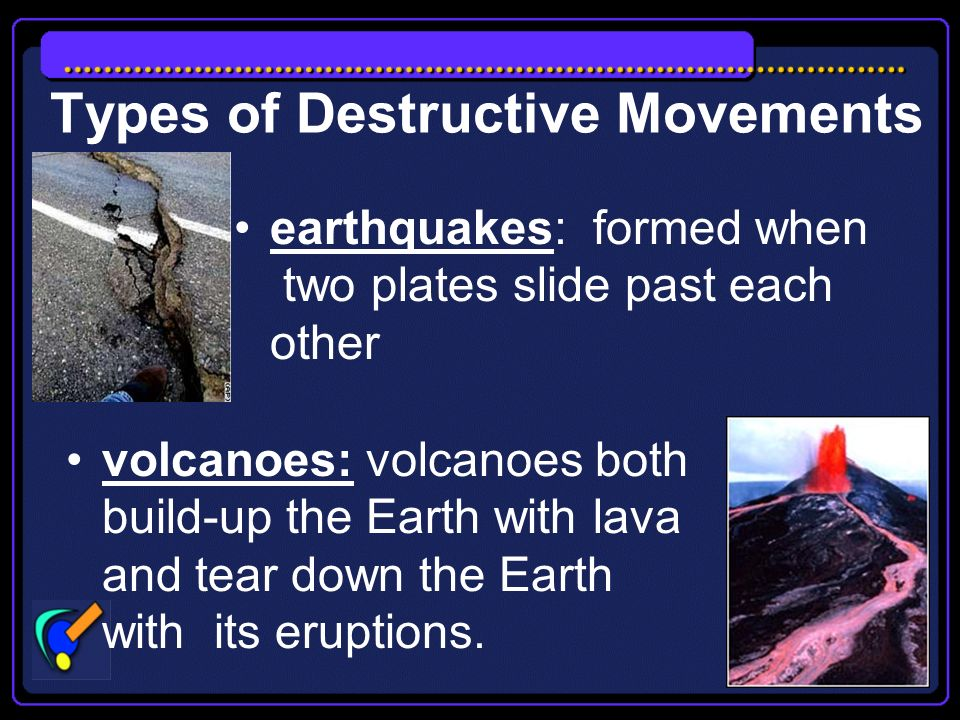 Destructive Plate Movement Destructive plate movement tears down the Earths crust Earthquakes video clips The_Eruption_of_Mount_Saint_Helens_in_Washington_State video clip