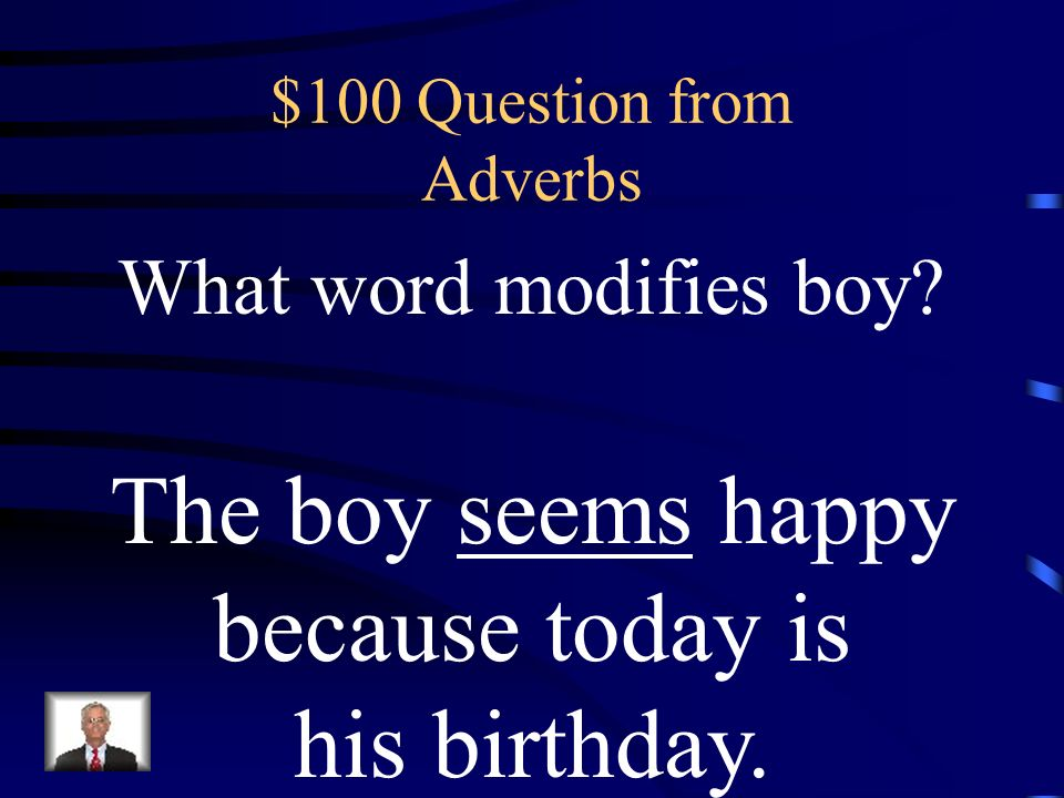 $500 Answer from Adjectives What is a another