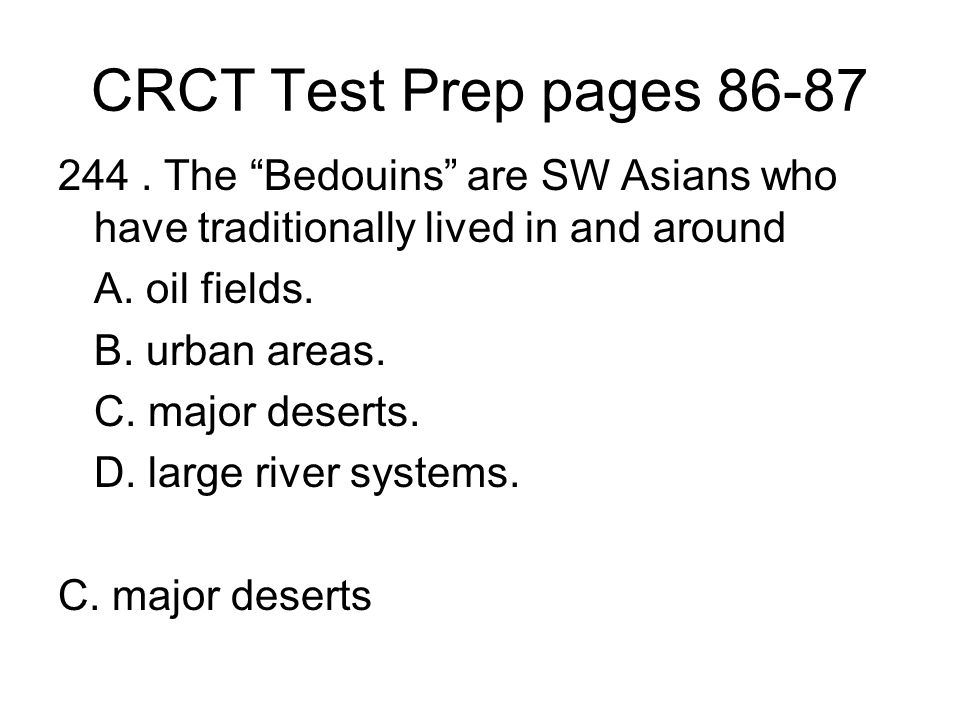 CRCT Test Prep pages 86-87 244.
