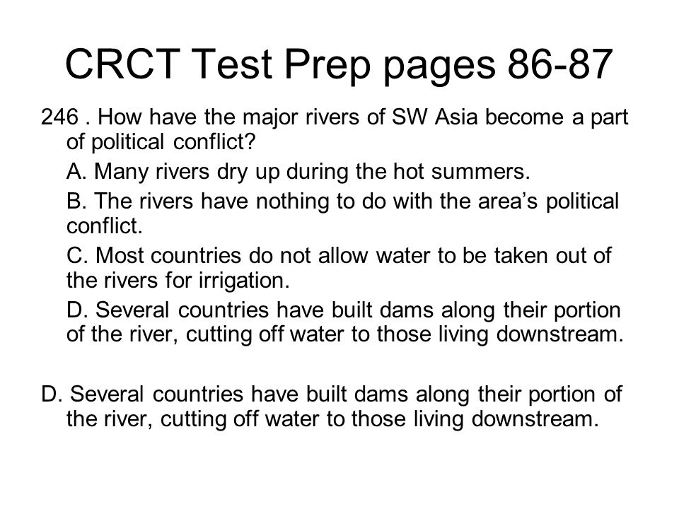 CRCT Test Prep pages 86-87 246.