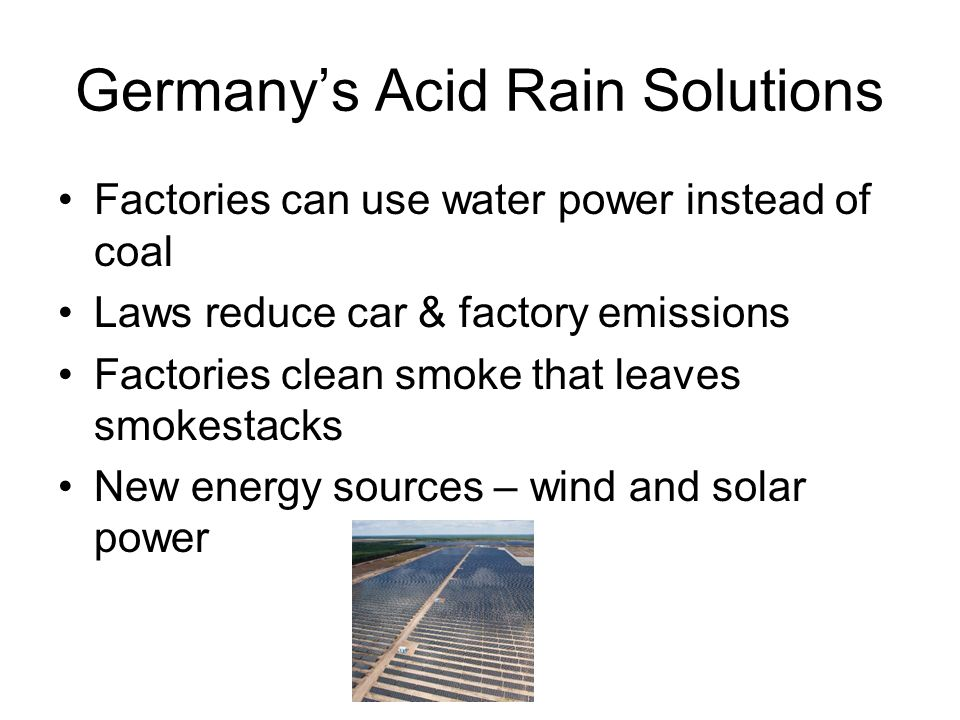 causes and effects of acid rain essay Read this science essay and over 88,000 other research documents acid rain when thought of acid rain, some people may think of green, burning acid falling from the sky, destroying everything in.