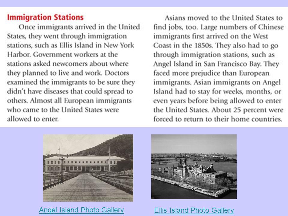 Angel Island Photo Gallery Ellis Island Photo Gallery