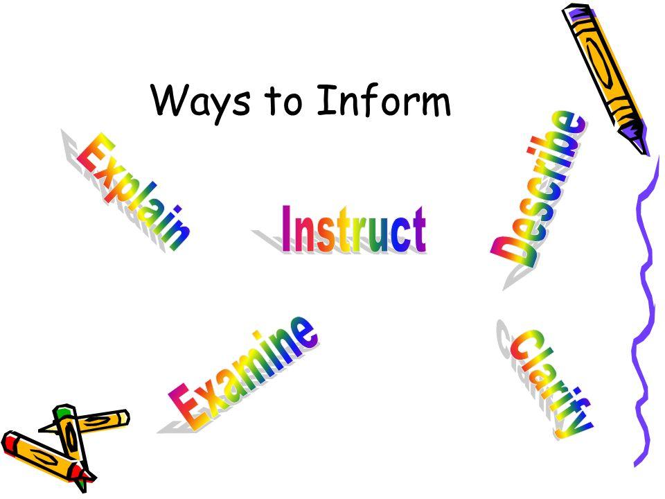 Ways to Inform