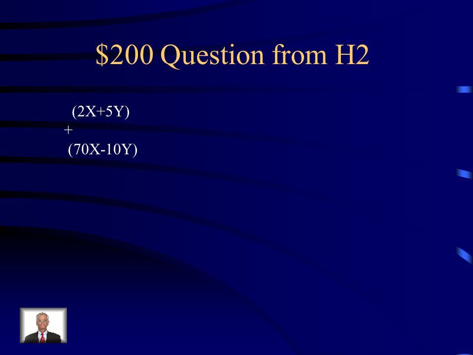 $100 Answer from H2 82