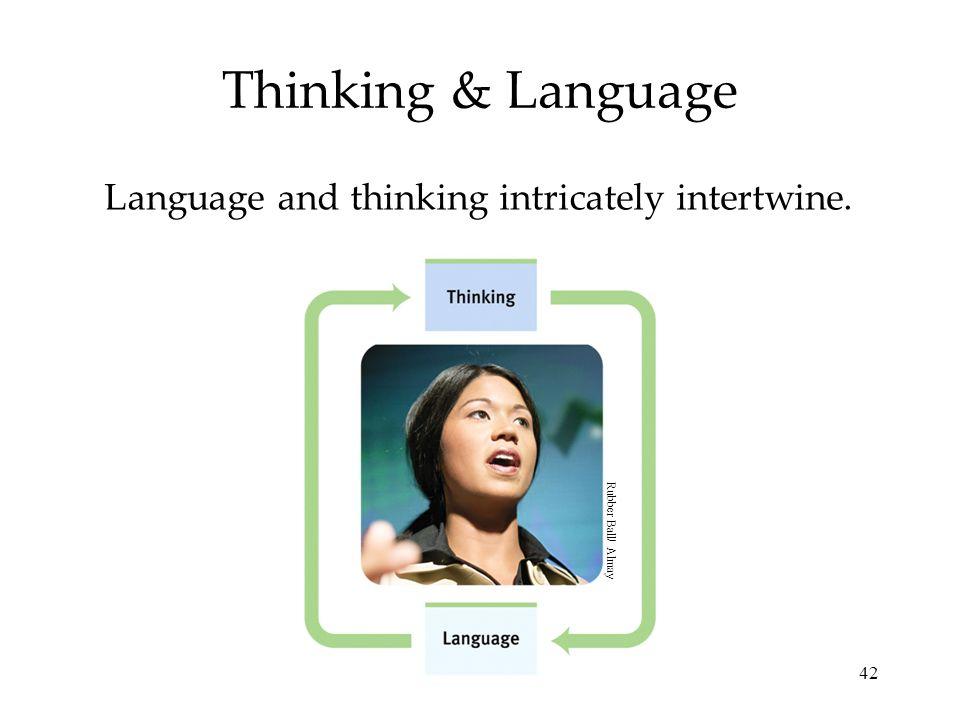 42 Thinking & Language Language and thinking intricately intertwine. Rubber Ball/ Almay