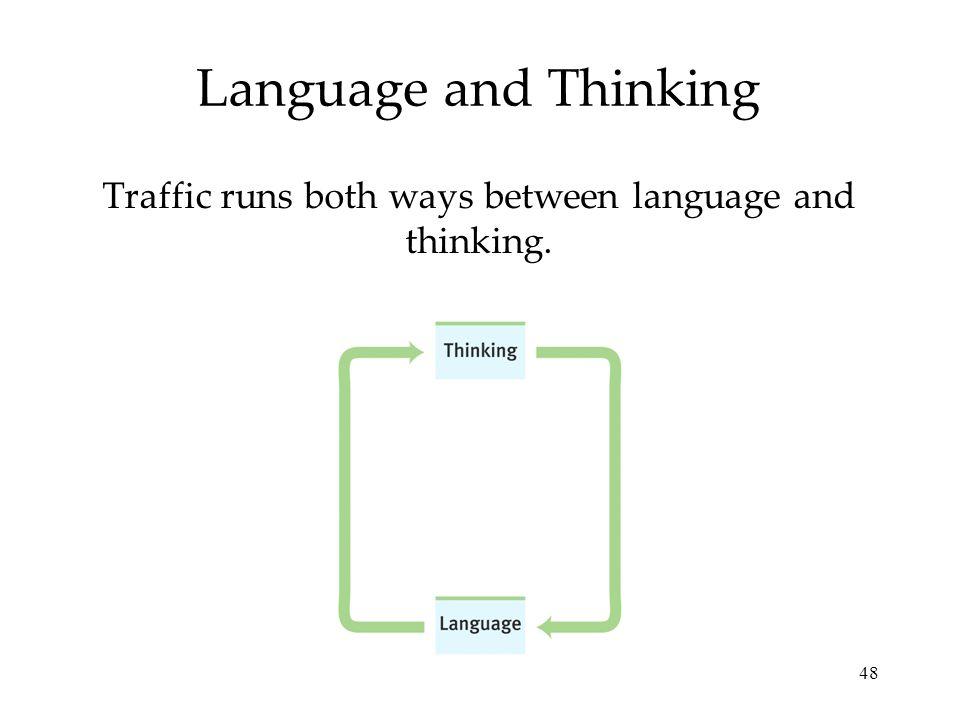 48 Language and Thinking Traffic runs both ways between language and thinking.