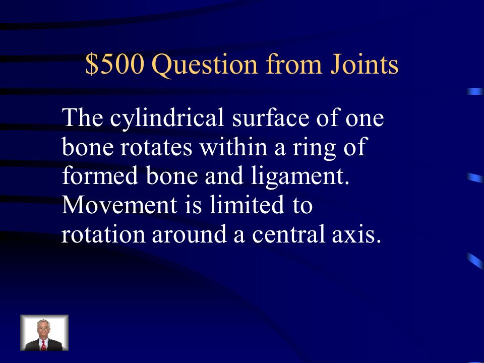 $400 Answer from Joints What is a hinge joint?