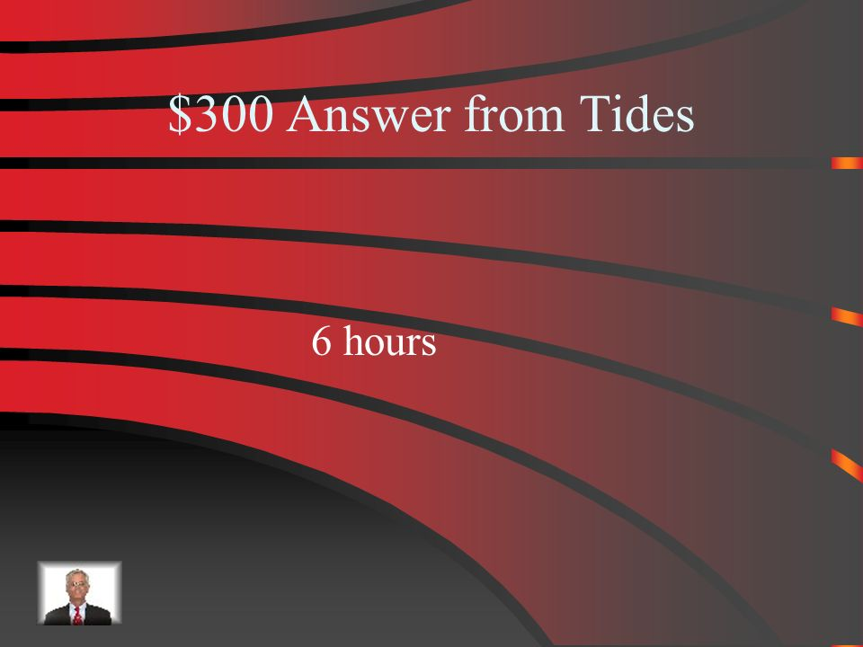 $300 Tides What is the time between a high tide and a low tide