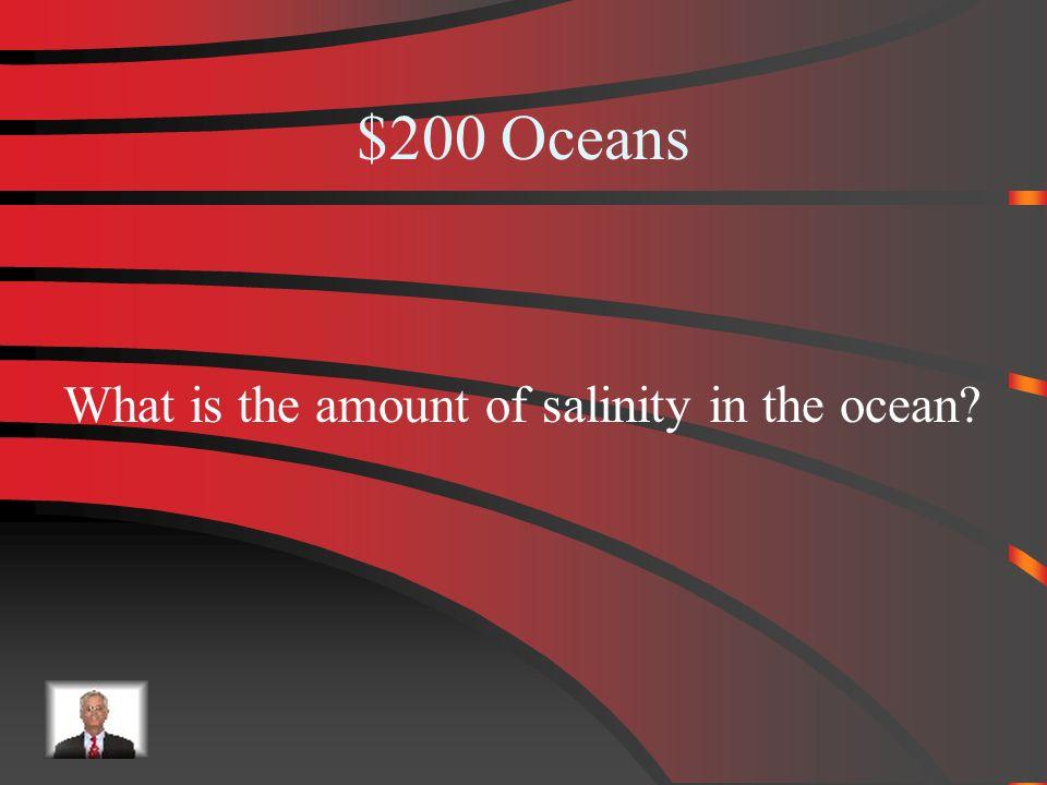 $100 Answer Oceans 5 Oceans