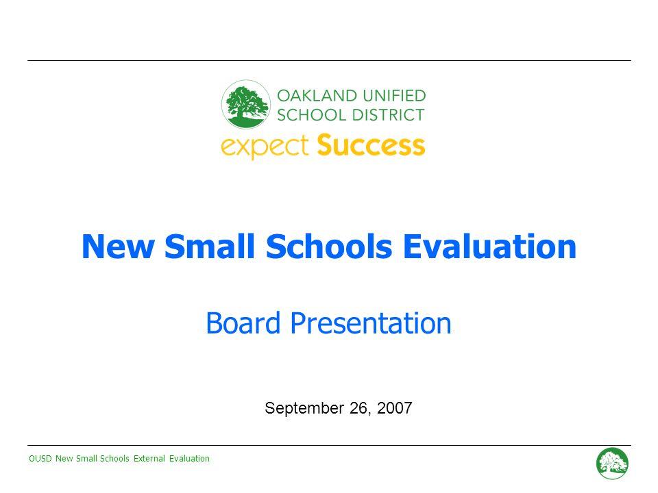 OUSD New Small Schools External Evaluation - 40 - Academic Gains: New Small Schools vs.