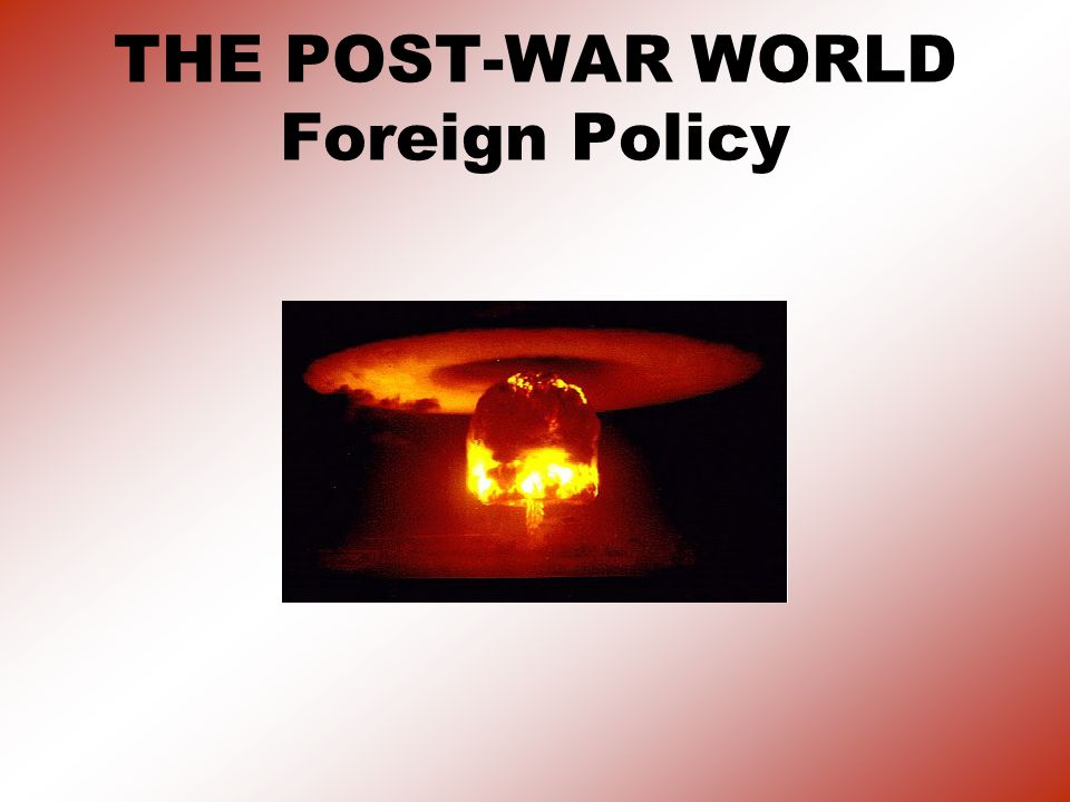 1.Cold War Begins Political and military rivalry between superpowers US and Soviet Union (USSR).