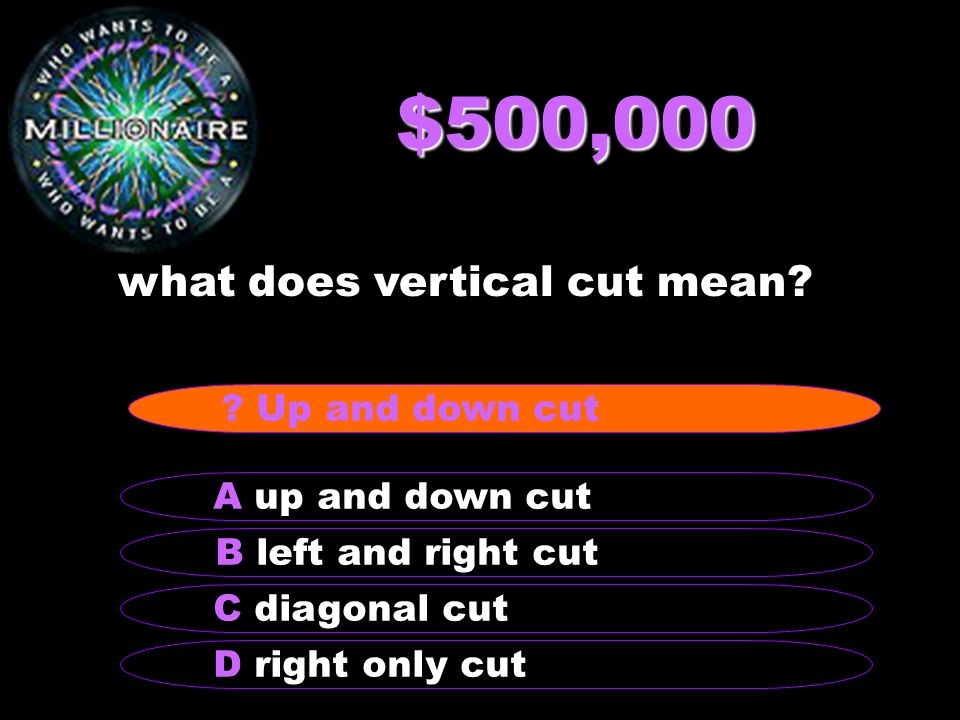 $500,000 what does vertical cut mean.