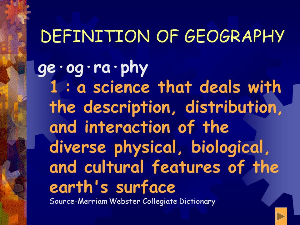 5 THEMES OF GEOGRAPHY AN INTERACTIVE LEARNING MODULE