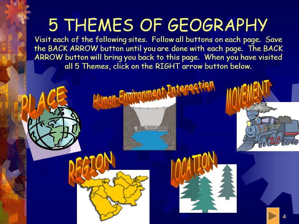 3 IN PLAIN ENGLISH Geography is the study of the earth and everything on it.