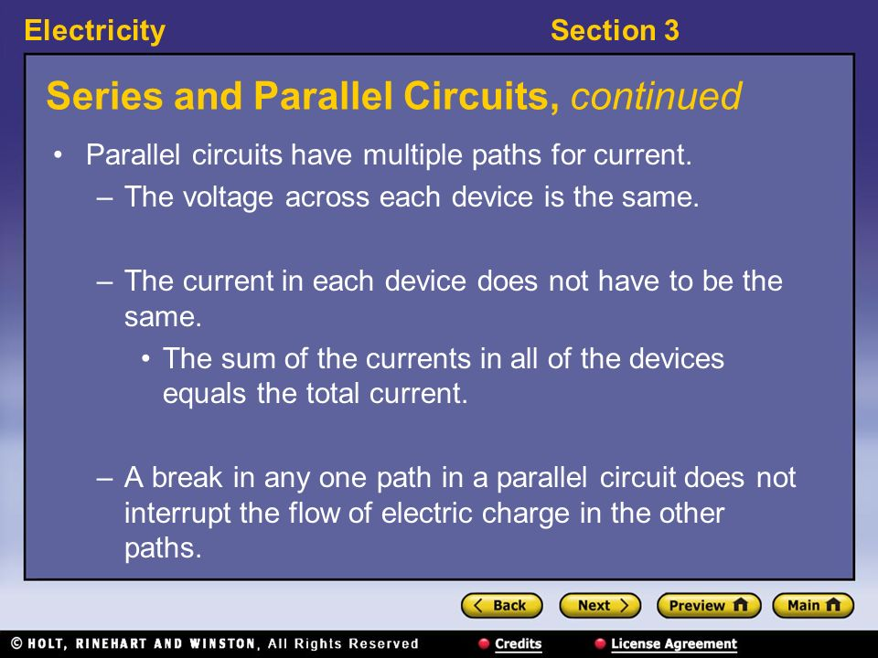 ElectricitySection 3 Visual Concept: Resistors in Series