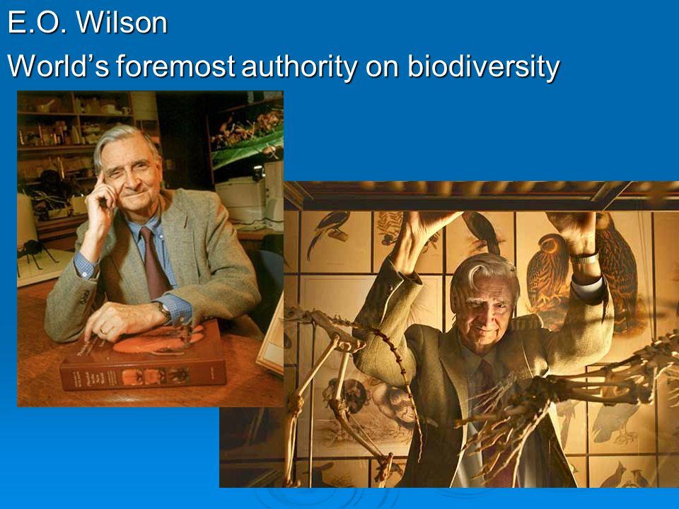 E.O. Wilson Worlds foremost authority on biodiversity