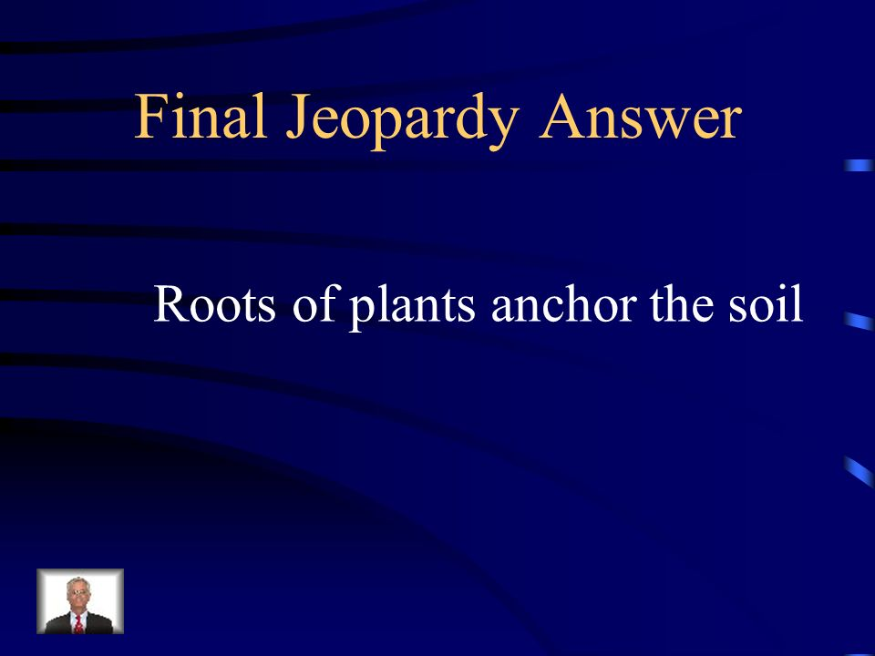 Final Jeopardy What is the main way to prevent erosion?