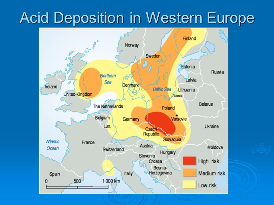 Acid Deposition in Western Europe