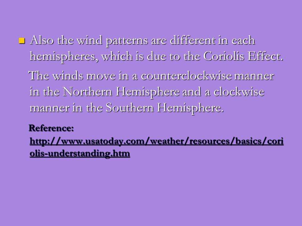 Due to the Earths rotation and tilted axis, the Northern Hemisphere has the opposite season of the Southern Hemisphere. Due to the Earths rotation and