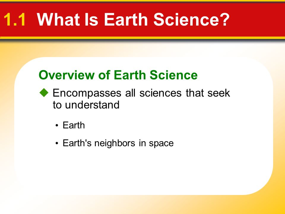 People and the Environment 1.4 Earth System Science Resources Include water, soil, minerals, and energy Two broad categories 2.